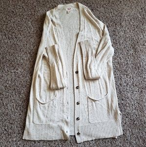 Mossimo cream speckled cardigan